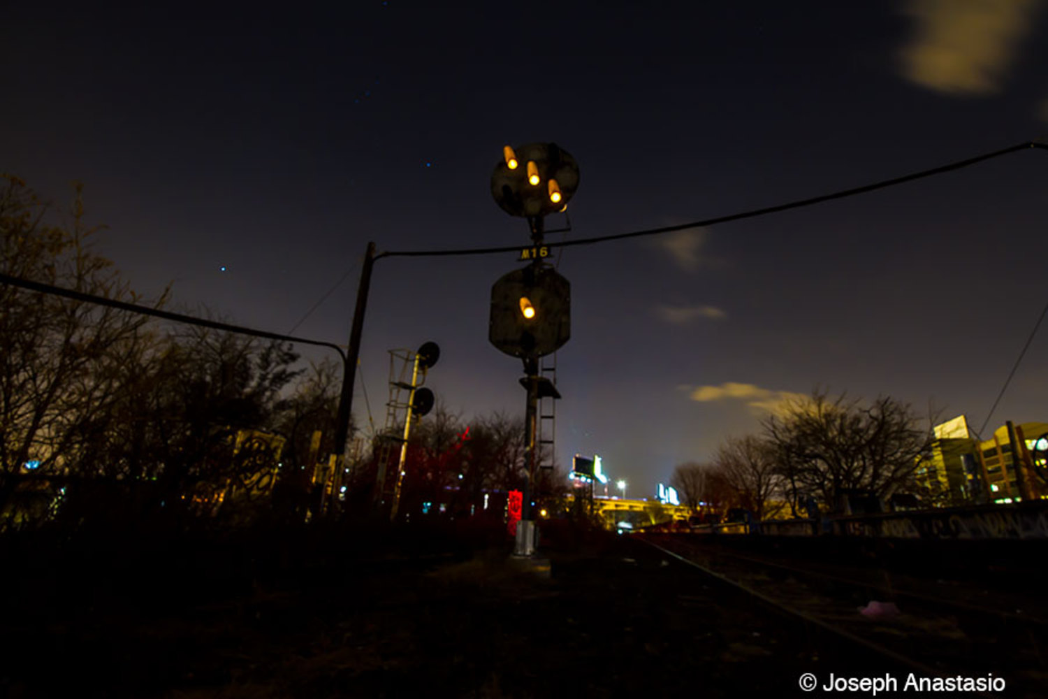 Original LIRR position signal still lit and in place