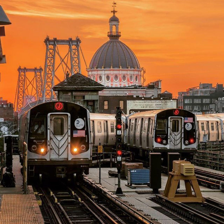 Marcy Avenue Train Station, Williamsburg, Brooklyn