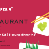 NYC Restaurant Week, Winter 2020, January 21 - Feb 9th