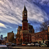 2:15 Jefferson Mkt. Library | Originally a courthouse, the Jefferson Market library is a Gothic Victorian style building designed by architects Frederick Clark Withers and Calvert Vaux who apparently assisted in the design of Central Park.  I absolutely love this NYC gem and shoot it frequently.