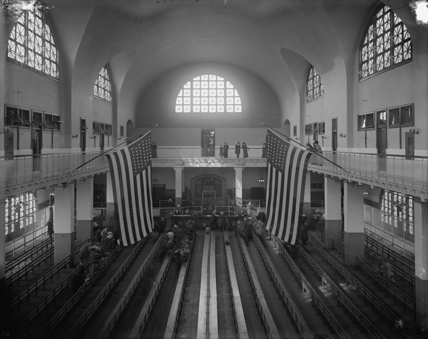 Ellis Island Main Processing Room (circa 1912)