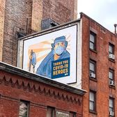 """Thank You Covid-19 Heroes"", Prince Street and Wooster Street, SoHo, Manhattan"