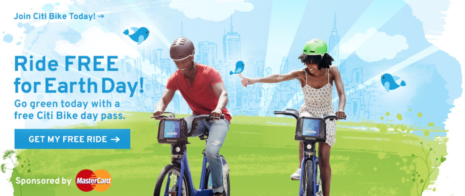 Free Citi Bike Rides Today