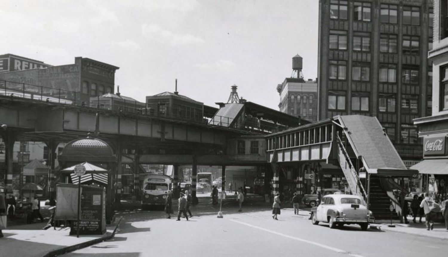 Melrose Avenue toward 149th Street, the Bronx, 1953
