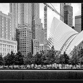 "9/11 Memorial and the Oculus | The 9/11 Memorial and the Oculus, part of the World Trade Center Transportation Hub, New York.  <a href=""https://www.flickr.com/cameras/sony/ilce-7m2/"">Sony A7II / ILCE-7M2</a> Sony FE 16-35mm F4 ZA OSS 31mm; 1/60 sec; f/5.6; ISO 250  See my related albums: <a href=""https://www.flickr.com/photos/prbimages/albums/72157660601330572/"">New York</a> ; <a href=""https://www.flickr.com/photos/prbimages/sets/72157645653469528/"">Black &amp; White</a> ; <a href=""https://www.flickr.com/photos/prbimages/albums/72157645989124675/"">Buildings &amp; Architecture</a>."