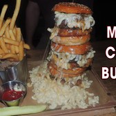 MAC AND CHEESE BURGER CHALLENGE!!