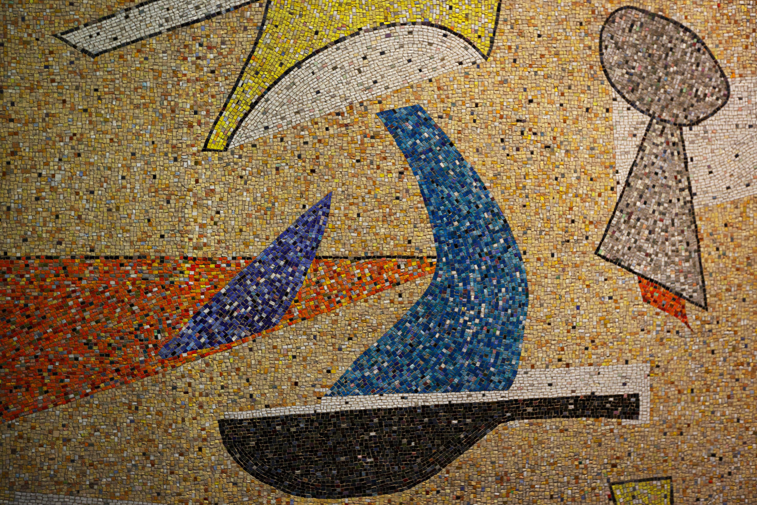 A detail of the mural.