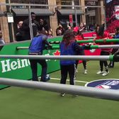 #rivalryweek is here with Human Foosball in Herald Square! NewYorkRedBulls  New York City FC