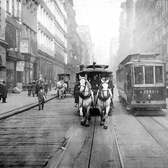 The last days of horse-cars in Manhattan, c. 1917, public domain archival image