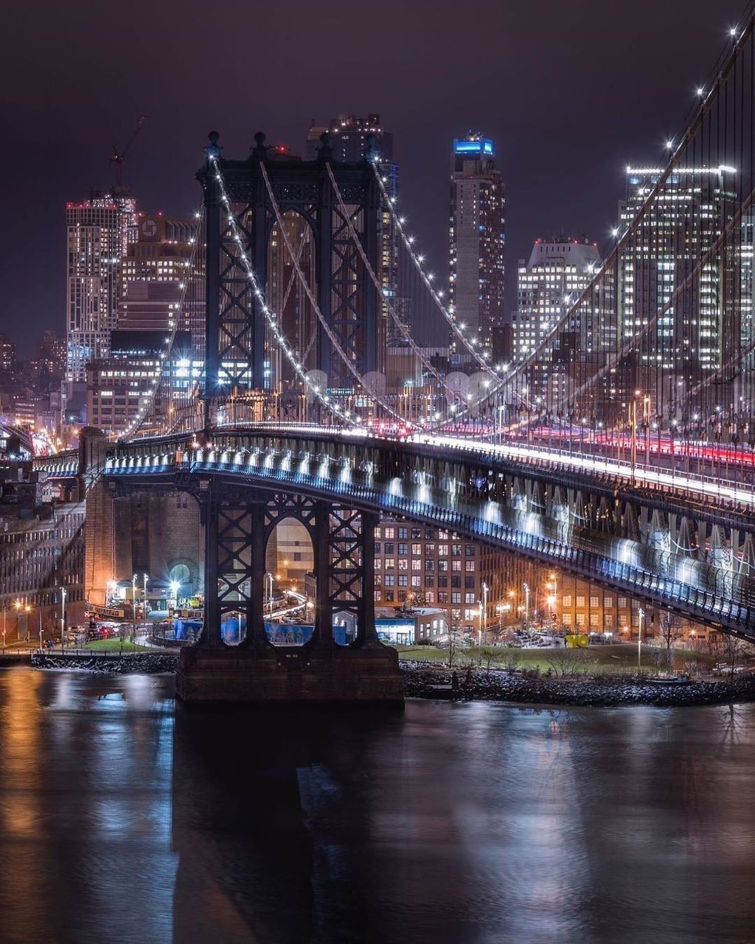 Manhattan Bridge, New York.