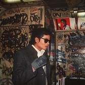 Michael Jackson | Michael Jackson on a subway train, c 1980s.  Michael Joseph Jackson was an American singer, songwriter, record producer, dancer, and actor.