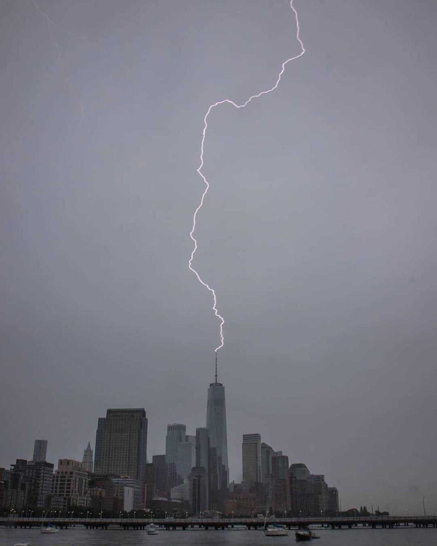 New York, New York. Photo via @maximusupinnyc #viewingnyc #newyork #newyorkcity #nyc #lightning #storms