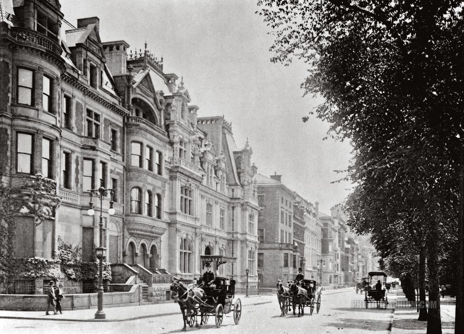 5th Avenue looking south from 66th Street, New York City, 1900