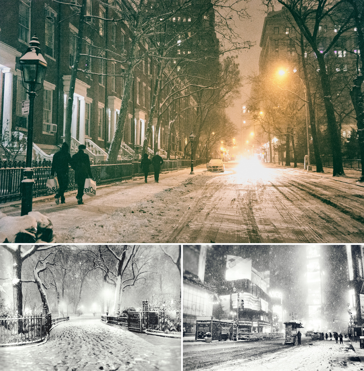...when city lights flicker in the snow and the night unfurls into a fever-dream cinematic sequence.
