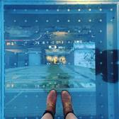 Glass floor VERY high above Manhattan 🏙