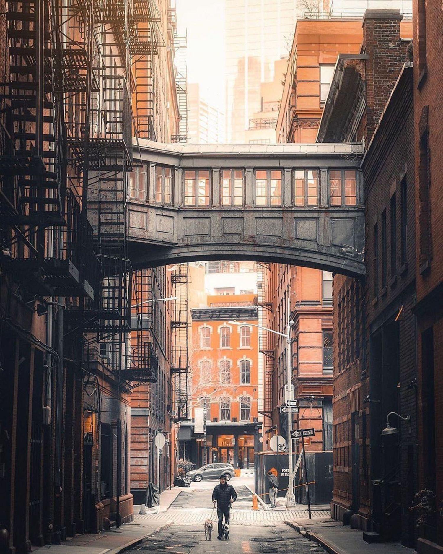 Staple Street Bridge, Tribeca, Manhattan.