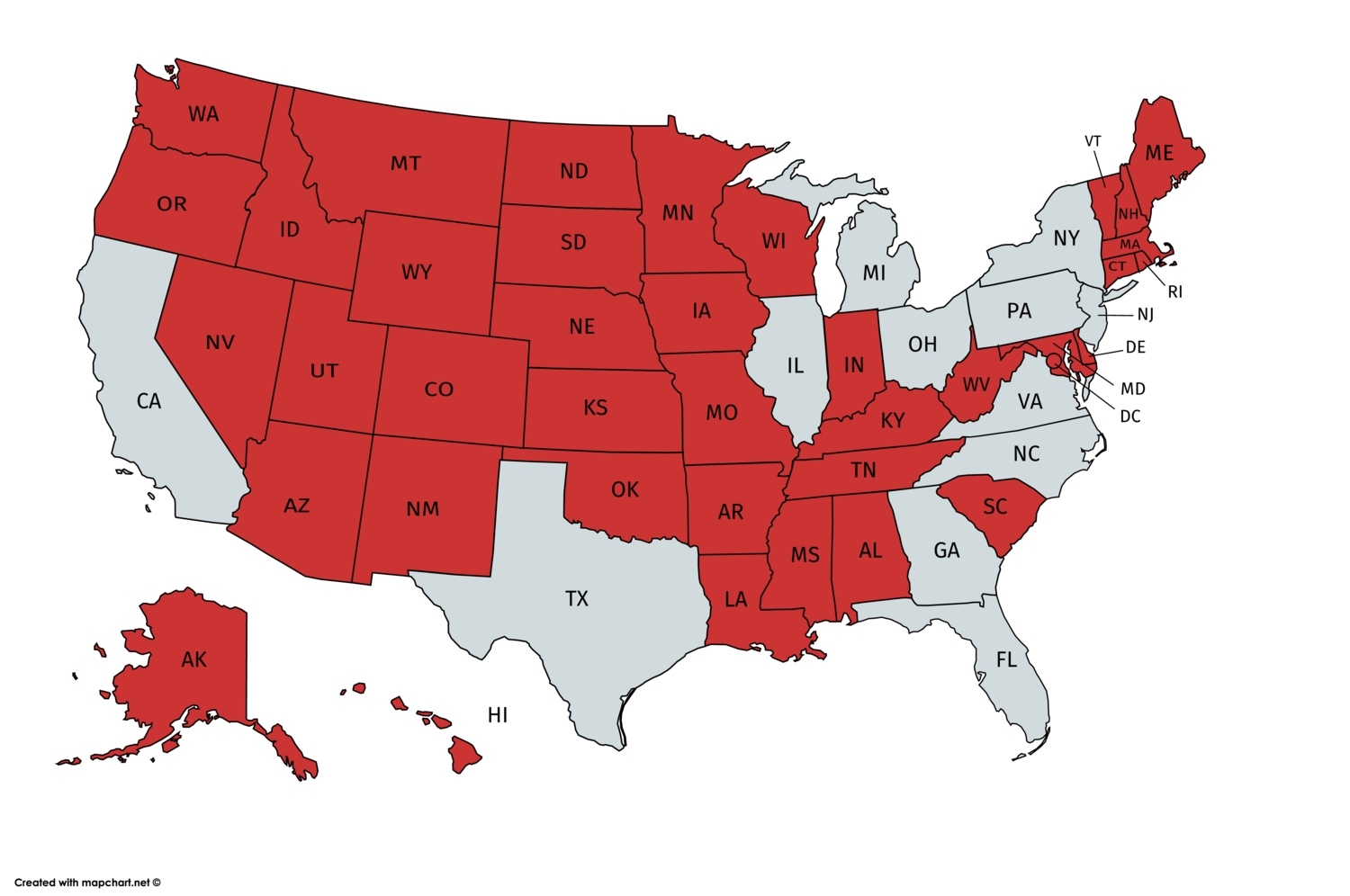 States with a smaller population than New York City
