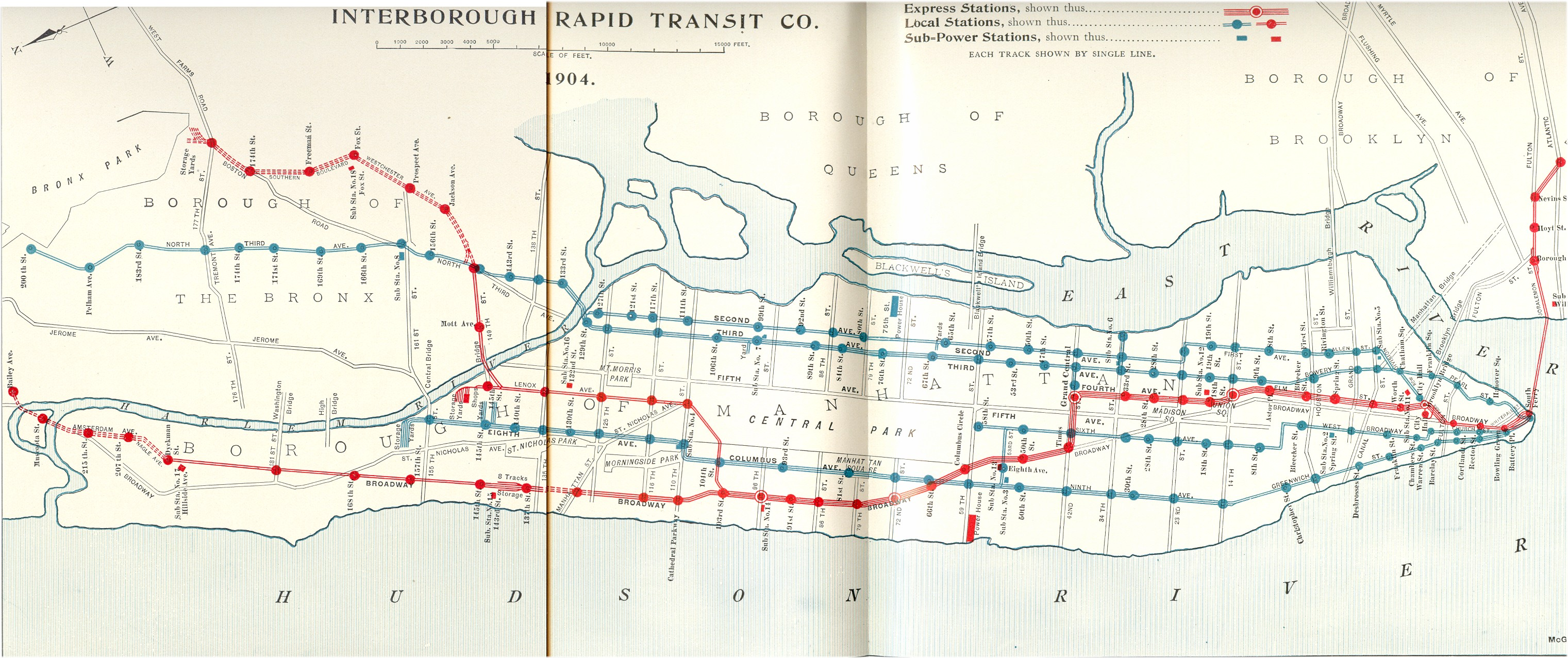 vintage map shows new york citys irt subway lines in 1904 viewing nyc