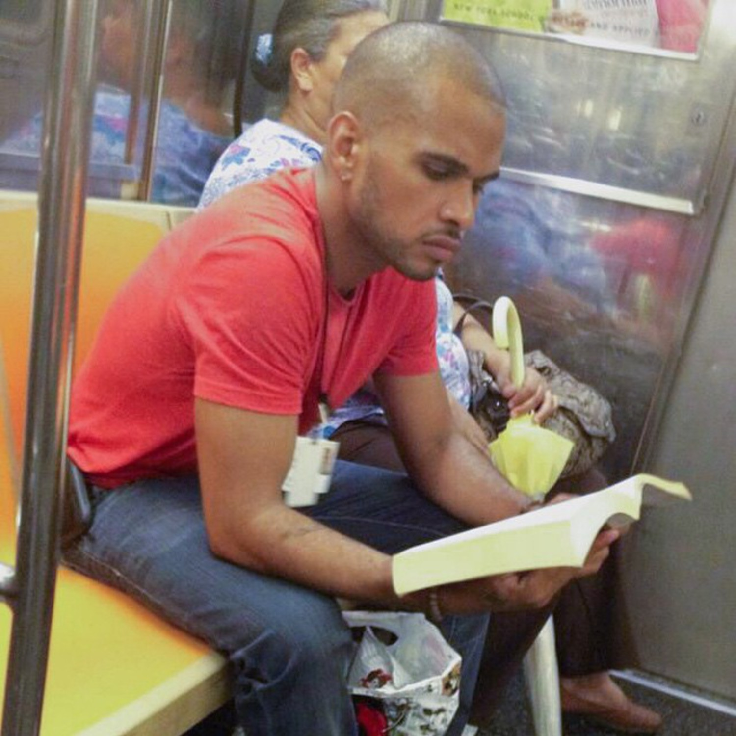 Received a pic of this bald, brooding beauty and immediately fell in love with that chiseled face. Not sure what he's reading or what those credentials are for, but I want an all access pass. #skiptheline #hotdudesreading #HDRfangram