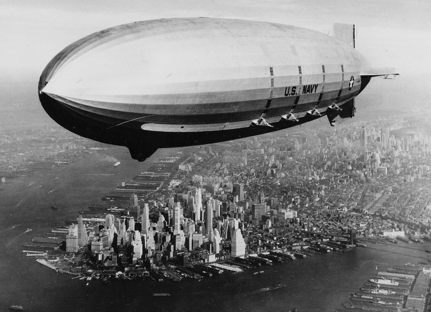 U.S.S. Macon over New York, New York, 1933