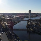 Kosciuszko Bridge Aerial b-roll