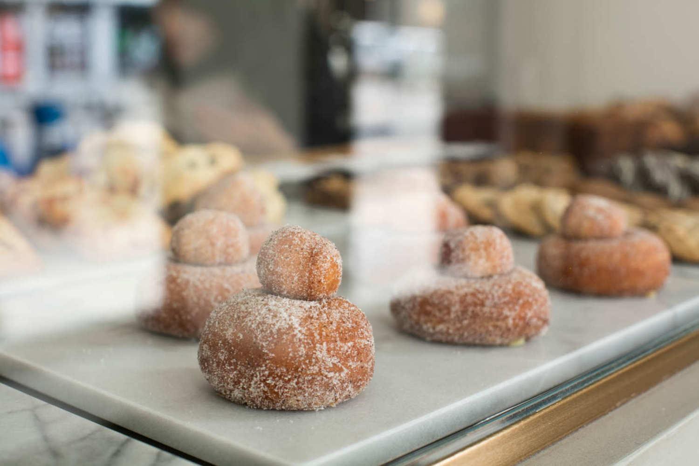 Brioche doughnuts come with their holes.