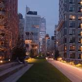 Day-to-night time-lapse of the High Line in New York City