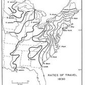 Rate of travel by horse from New York, 1830