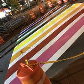 We now have our own rainbow crosswalk in NYC! #pride2017 https://t.co/41Abu34Ivz