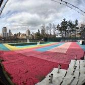 Roosevelt Island Pool mural installation