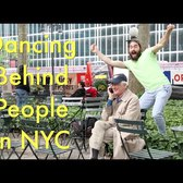 Dancing Behind People in New York City