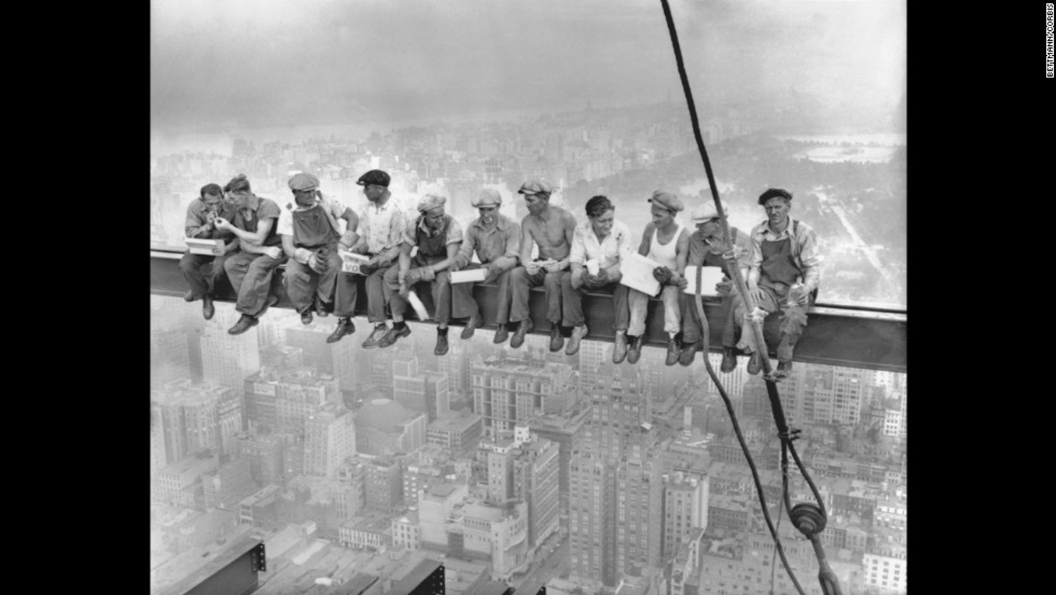"This unforgettable image, titled ""Lunch atop a Skyscraper,"" was taken on September 20, 1932, during the construction of the RCA Building in New York."