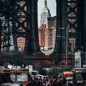 Empire State Building through the Manhattan Bridge from DUMBO, Brooklyn