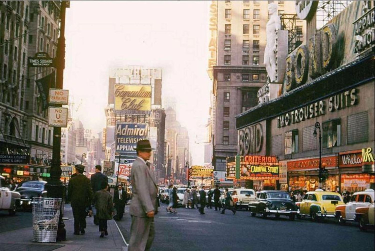 Broadway & 44th Street, April 15, 1954
