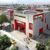 Rendering of Studio Gang's design for Fire Rescue 2.
