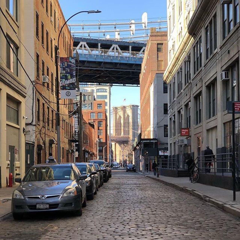 DUMBO, Brooklyn. Photo via @coneybeare #viewing nyc #newyorkcity #newyork #nyc