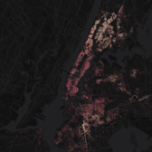 Interactive Map of New York City Apartment and Home Evictions (screenshot)