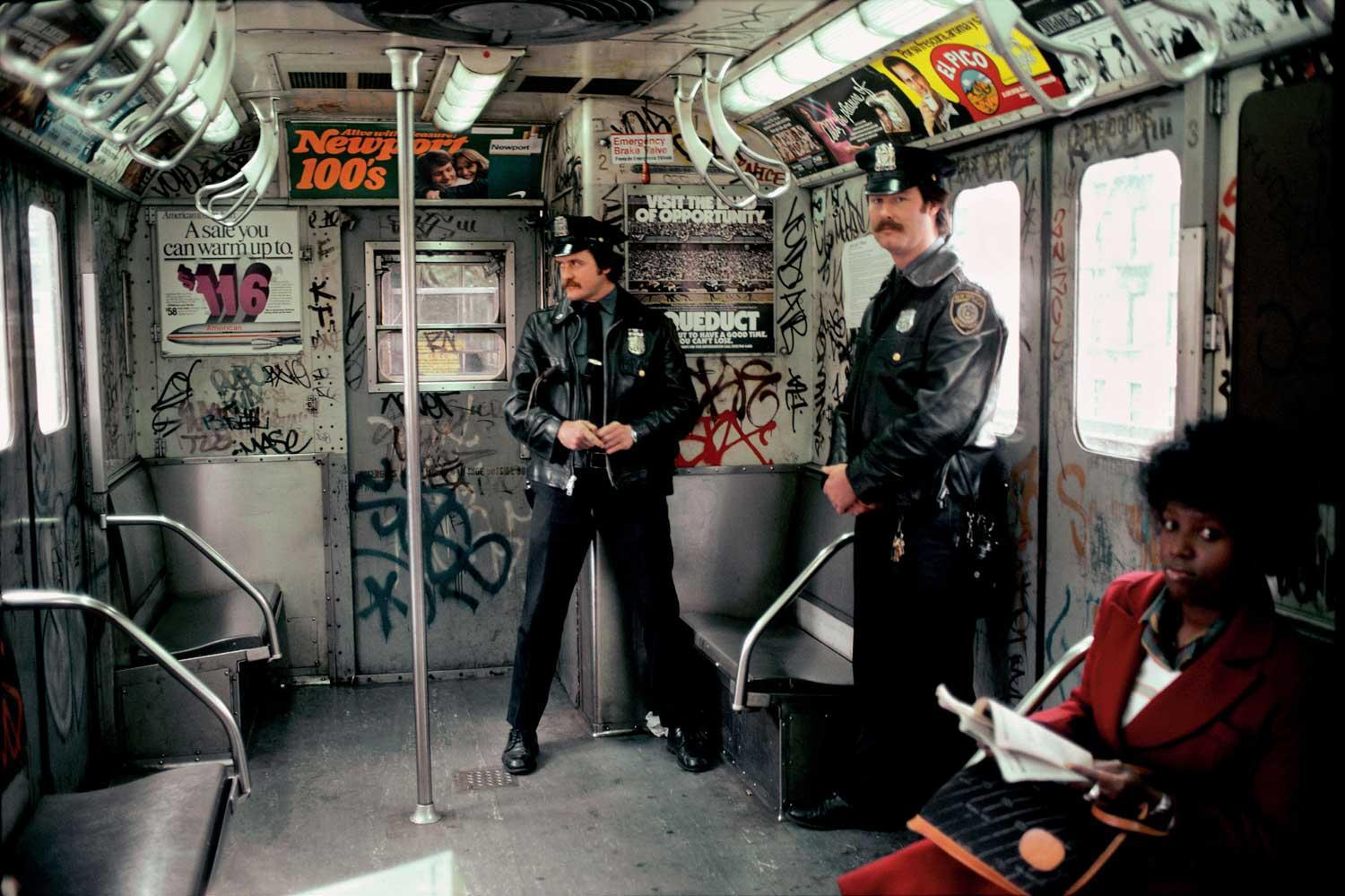 NYPD Riding the Subway in the 1980's