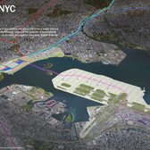ReThinkNYC's vision of a new La Guardia Airport which would get rid of about half of Port Morris (or more) and Riker's Island in the process.