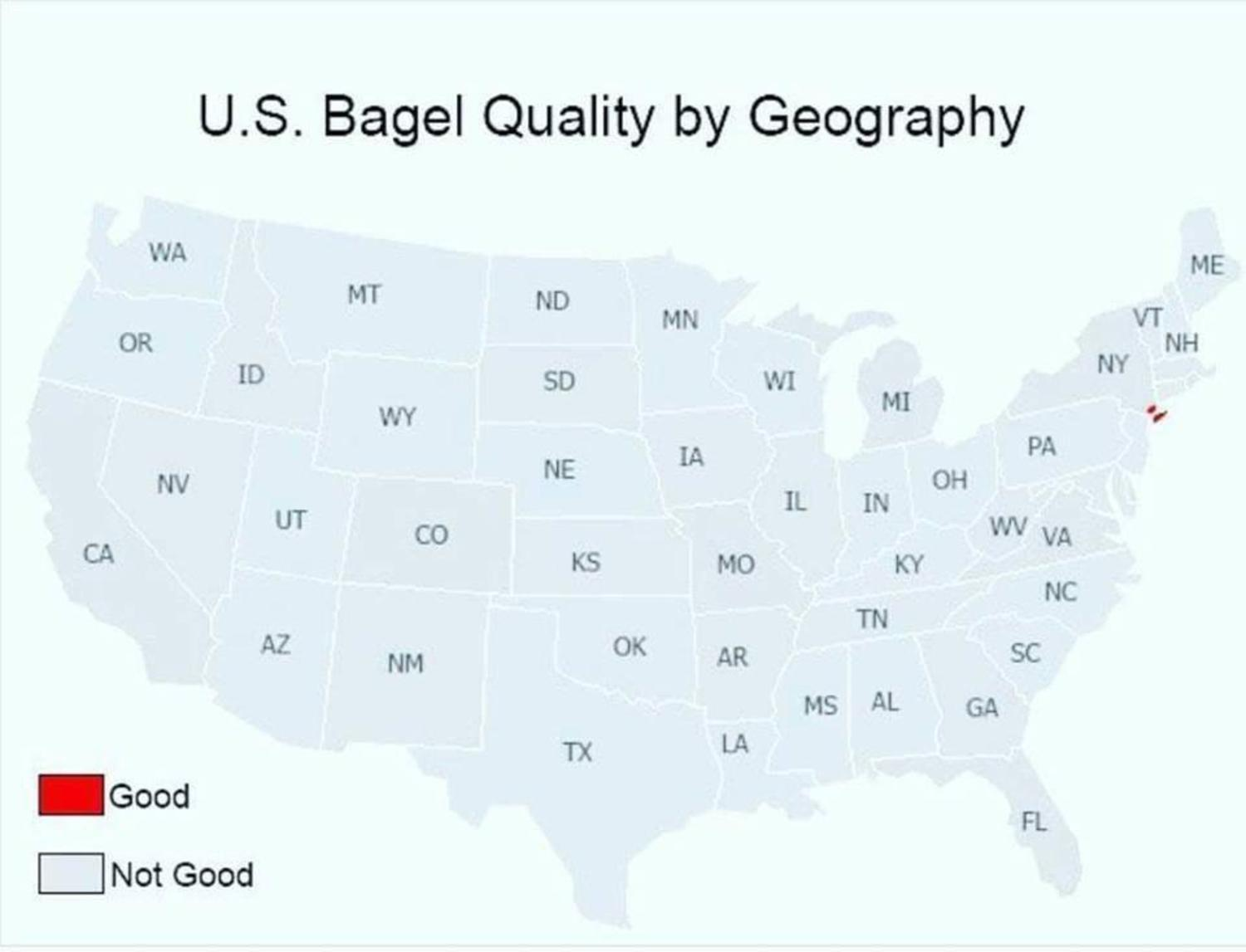 U.S. Bagel Quality by Geography