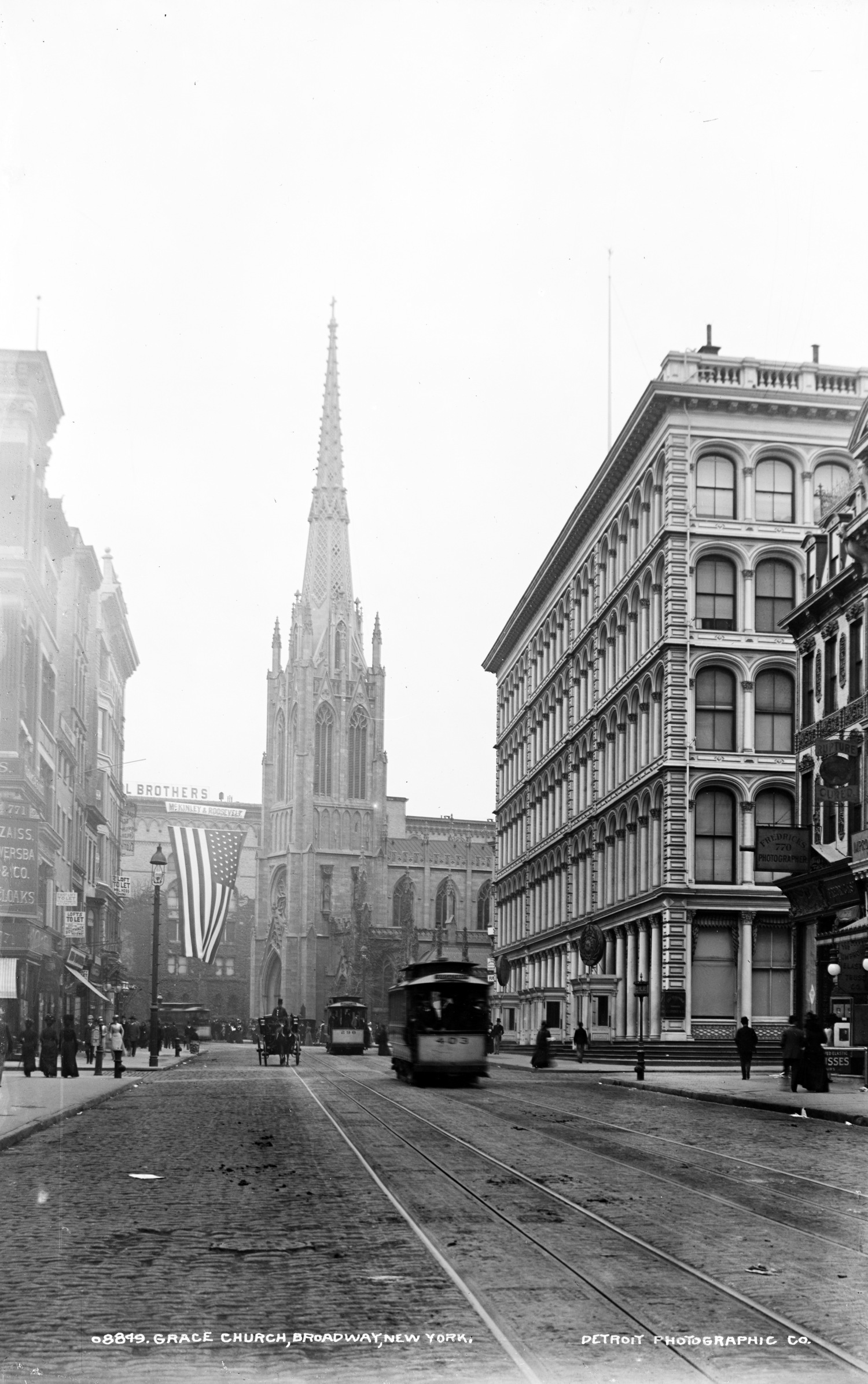 Grace Church, Broadway, New York ca. 1900