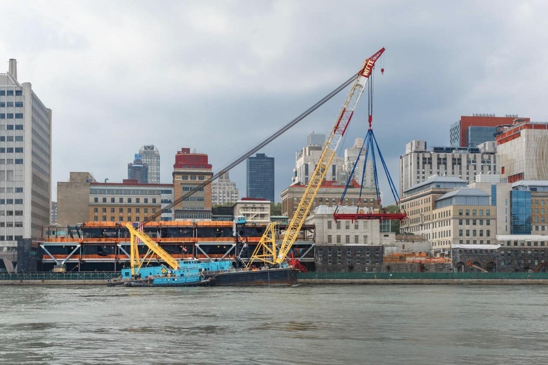 Construction along NYC Waterfront