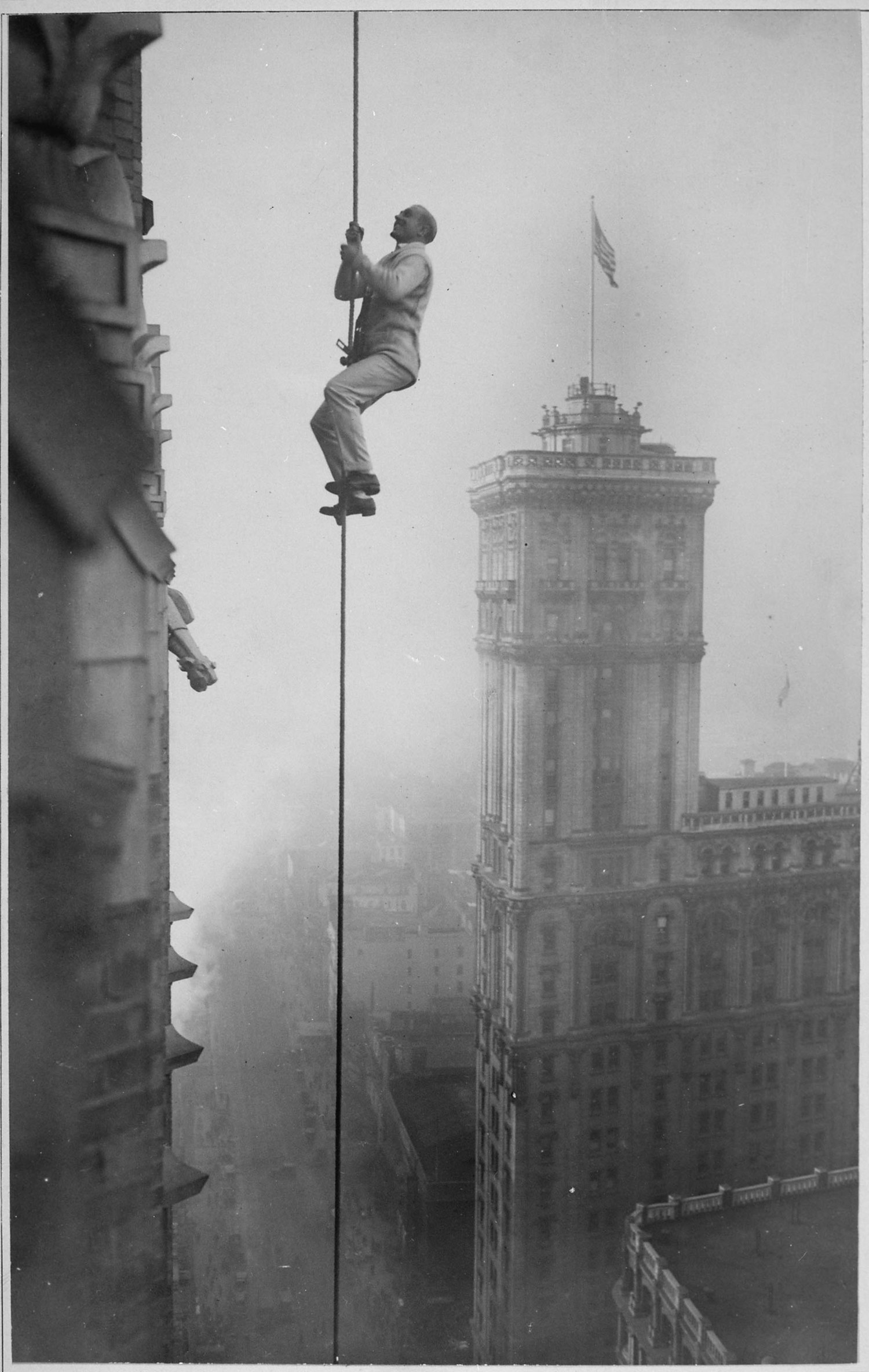 "The ""Human Squirrel"" who did many daring ""stunts"" in climbing for benefit of War Relief Funds in New York City. 