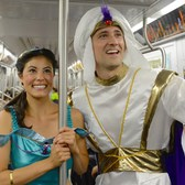 MTA New World - Aladdin & Jasmine Ride the Subway