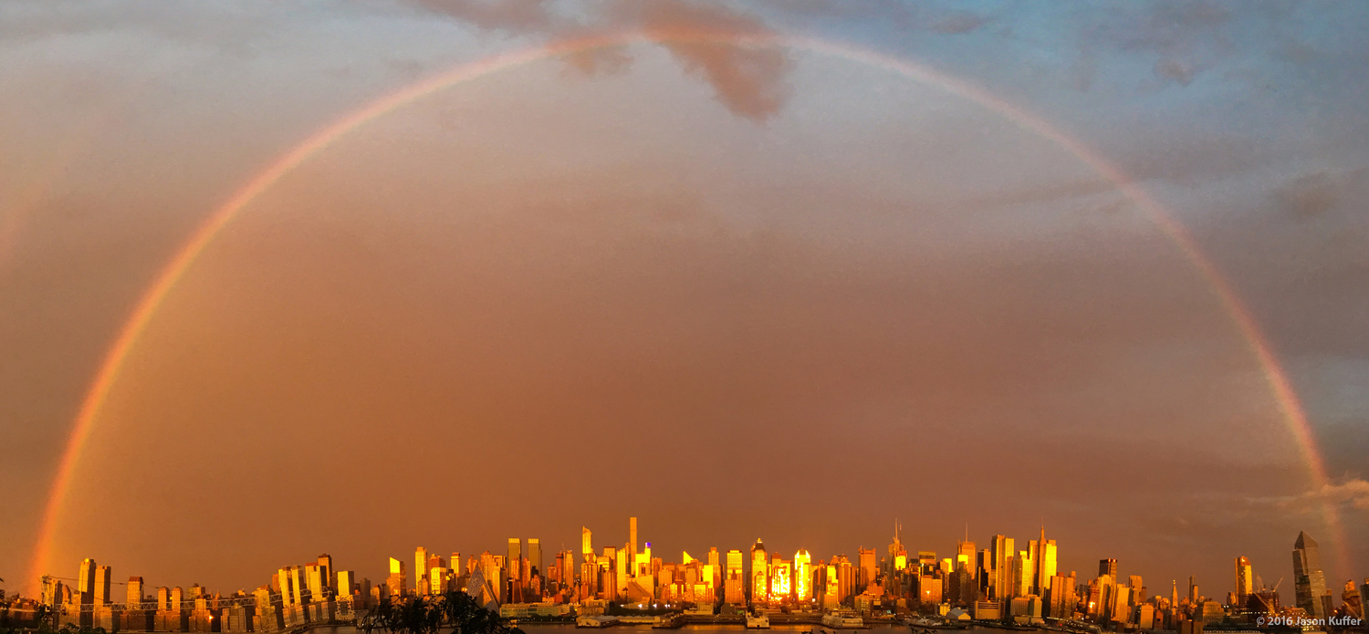 Golden Rainbow Over Manhattan | Once in a lifetime!