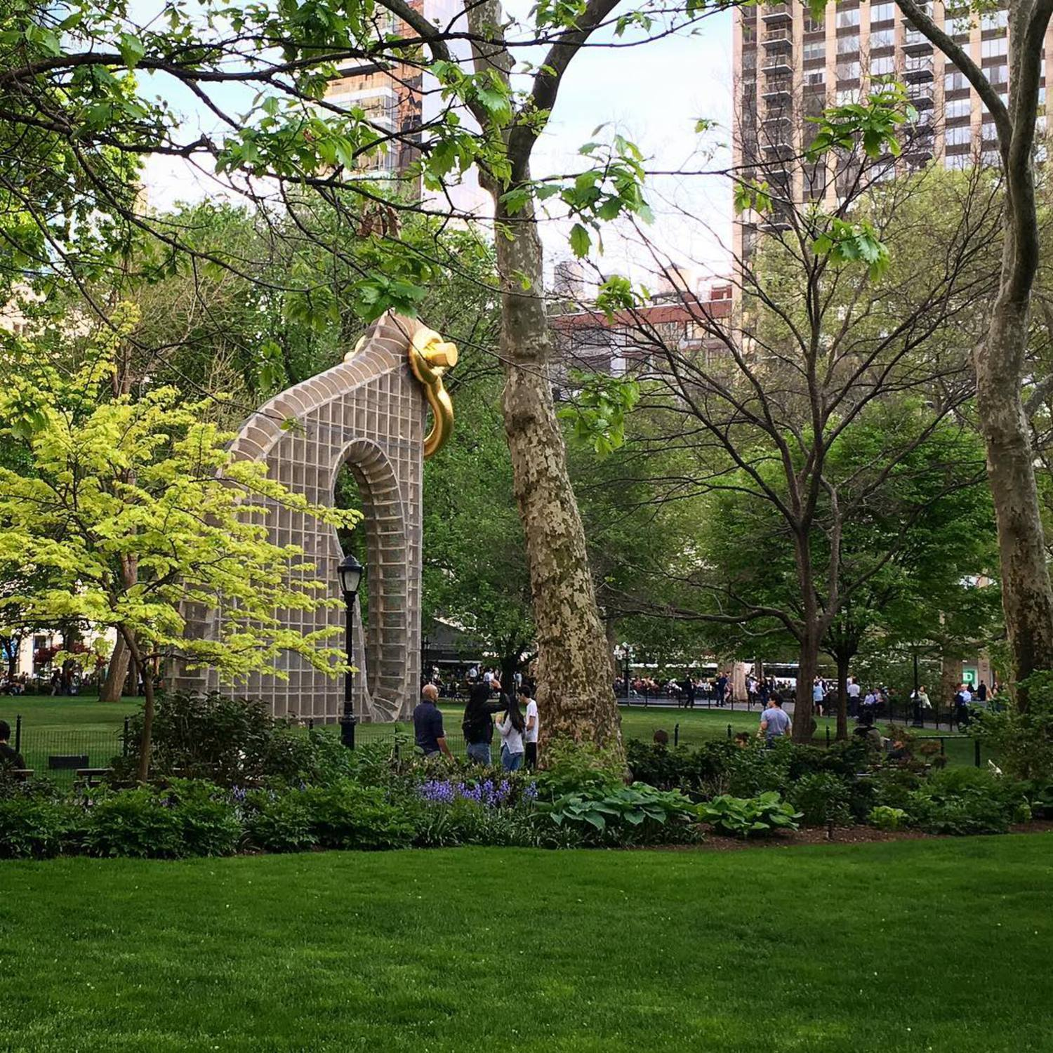 #MartinPuryear's #BigBling at @madsqparknyc is looking good! Opens to the public next week on the 16th. #MadSqArt (📷: @jonnymoon)