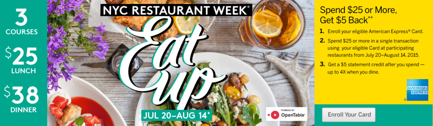 Reservations Open Now for NYC Restaurant Week