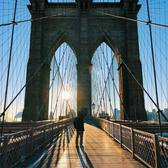This morning on the #BrooklynBridge . A brand new day ☀️😎