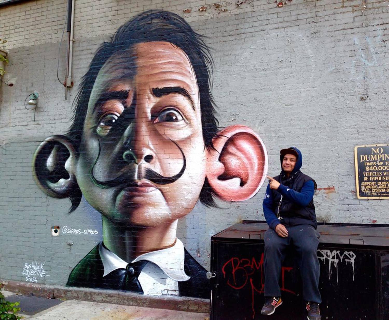 ##NYC #Manhatam #graffiti #sipros #thebushwickcollective #street #realismo 😎 #neweranacabeca @newerabrasil