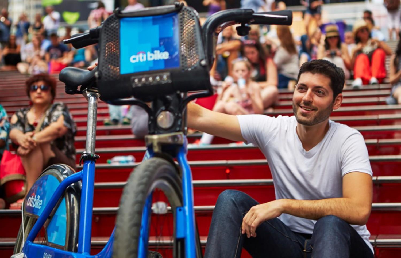 NYC Man Riding Citi Bike Cross Country